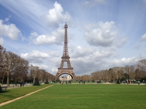 Beautiful sunny day, Eiffel Tower, Paris