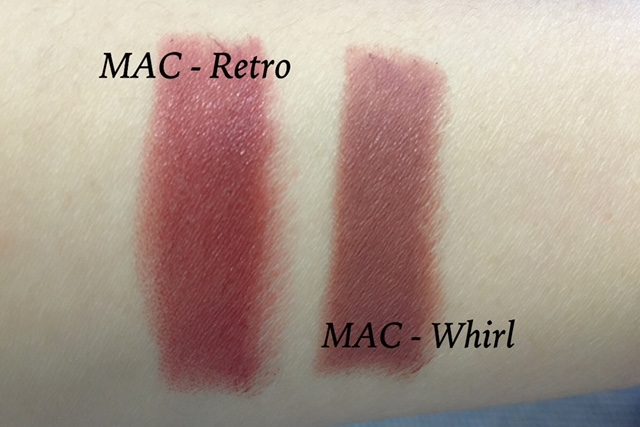 mac retro whirl swatches