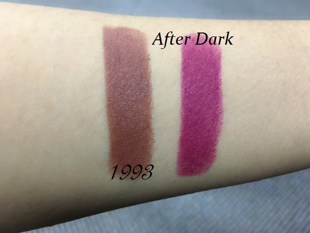 urban decay 1993, after dark, swatch