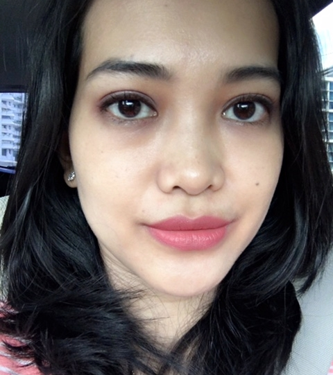 sariayu duo lip color 07 - swatch